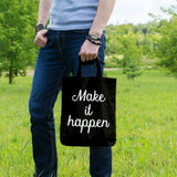 Make it happen | 100% Cotton Tote Bag | Tote Bag | Adnil Creations