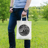 Japanese wave | 100% Cotton Tote Bag | Tote Bag | Adnil Creations
