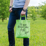 Let your dreams take flight | 100% Cotton Tote Bag | Tote Bag | Adnil Creations