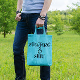 Shopping and shit | 100% Cotton Tote Bag | Tote Bag | Adnil Creations