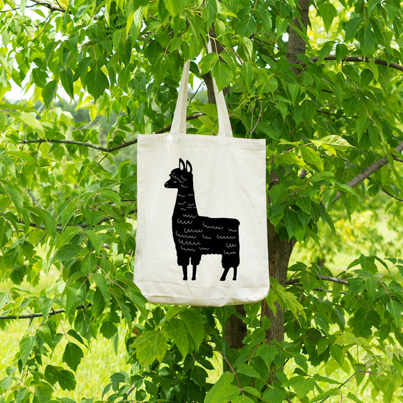 Llama | 100% Cotton Tote Bag | Tote Bag | Adnil Creations