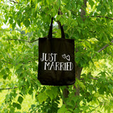 Just Married | 100% Cotton Tote Bag | Tote Bag | Adnil Creations