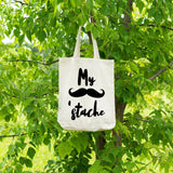 My stache | 100% Cotton Tote Bag | Tote Bag | Adnil Creations