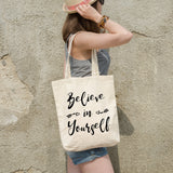 Believe in yourself | 100% Cotton Tote Bag - Adnil Creations
