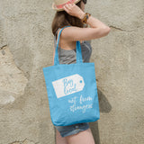 Buy local not from strangers | 100% Cotton Tote Bag | Tote Bag | Adnil Creations