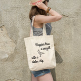 Happier than a seagull with a stolen chip | 100% Cotton Tote Bag | Tote Bag | Adnil Creations