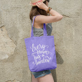 Every storm has a rainbow | 100% Cotton Tote Bag | Tote Bag | Adnil Creations