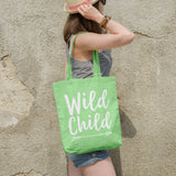 Wild child | 100% Cotton Tote Bag | Tote Bag | Adnil Creations
