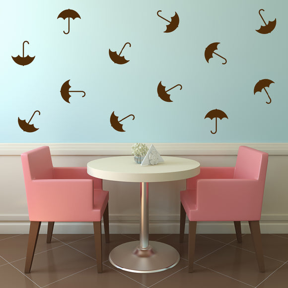 Set of 50 Umbrella Wall Stickers | 4 sizes available to choose from | Repeating Pattern | Adnil Creations