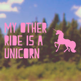 My other ride is a Unicorn | Bumper Sticker | Bumper Sticker | Adnil Creations