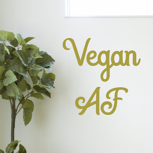 Vegan AF | Wall Quote | Wall Quote | Adnil Creations