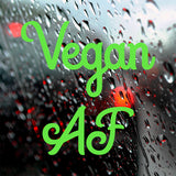 Vegan AF | Bumper Sticker | Bumper Sticker | Adnil Creations