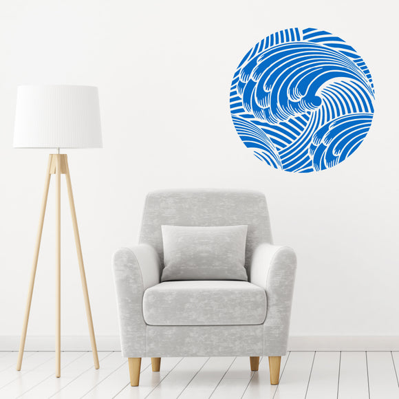 Japanese wave | Wall Decal | Wall Art | Adnil Creations