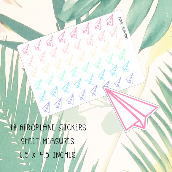 Paper Aeroplanes | Planner Stickers | planner stickers | Adnil Creations