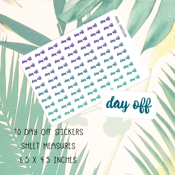 Day Off Ombre | Planner Stickers | planner stickers | Adnil Creations