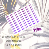 Gym Ombre | Planner Stickers | planner stickers | Adnil Creations