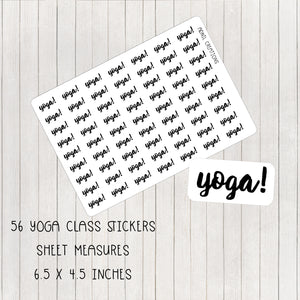 Yoga Mono | Planner Stickers | planner stickers | Adnil Creations