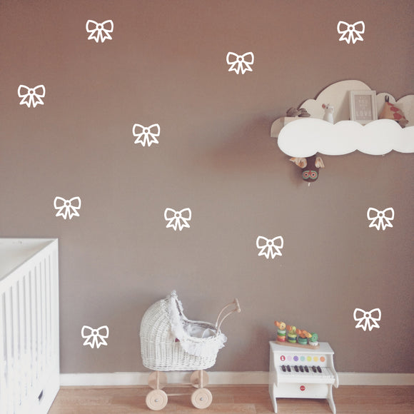 Set of 50 Bow Wall Stickers | 3 sizes available to choose from | Repeating Pattern | Adnil Creations