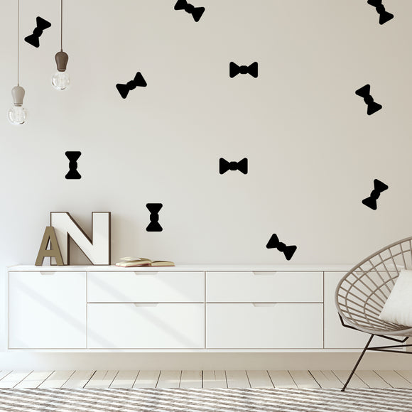 Set of 50 Bow Tie Wall Stickers | 4 sizes available to choose from | Repeating Pattern | Adnil Creations