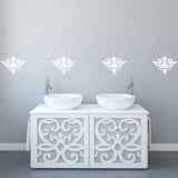 Set of 25 Damask Wall Stickers | 2 sizes available to choose from | Repeating Pattern | Adnil Creations