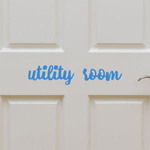 Utility room | Door Decal | Door Decals | Adnil Creations