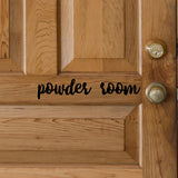 Powder room | Door Decal | Door Decals | Adnil Creations
