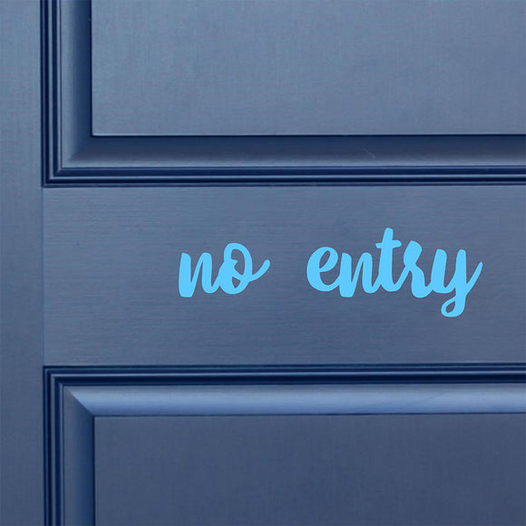 No entry | Door Decal | Door Decals | Adnil Creations