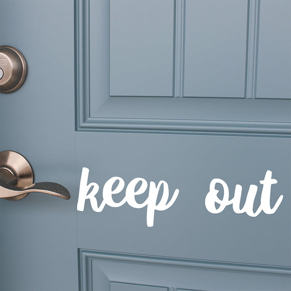 Keep out | Door Decal | Door Decals | Adnil Creations