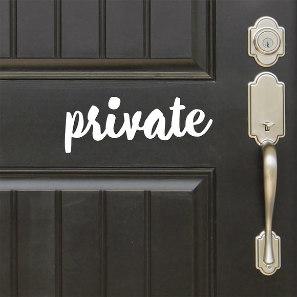 Private | Door Decal | Door Decals | Adnil Creations