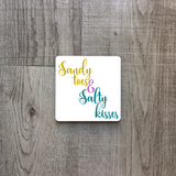 Sandy toes and salty kisses | Mug | Mug | Adnil Creations