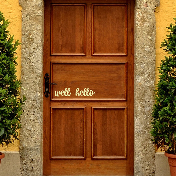 Well Hello | Door Decal | Door Decals | Adnil Creations