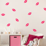 Set of 50 Kiss Wall Stickers | 3 sizes available to choose from | Repeating Pattern | Adnil Creations