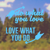 Do what you love | Bumper Sticker | Bumper Sticker | Adnil Creations