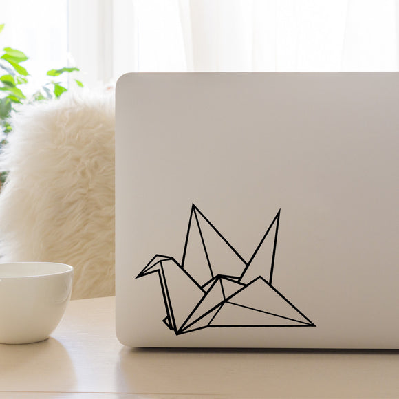 Origami Crane | Laptop Decal | Macbook Decal | Adnil Creations