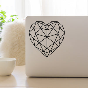 Geometric Heart | Laptop Decal | Macbook Decal | Adnil Creations