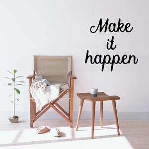Make it happen | Wall Quote | Wall Quote | Adnil Creations