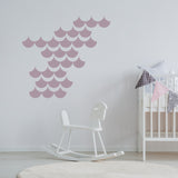 Set of 50 Mermaid Scales Wall Stickers | 4 sizes available to choose from | Repeating Pattern | Adnil Creations