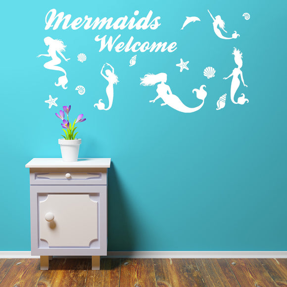 Mermaids welcome | Wall Quote | Wall Quote | Adnil Creations