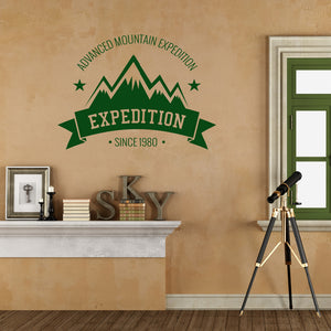 Advanced mountain expedition | Wall Quote | Wall Quote | Adnil Creations