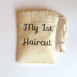 My first haircut bag | Small Cotton Drawstring Bag | Tiny Bags | Adnil Creations