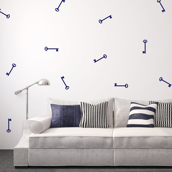 Set of 50 Key Wall Stickers | 4 sizes available to choose from
