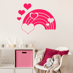 Rainbow with hearts | Wall Decal | Wall Art | Adnil Creations