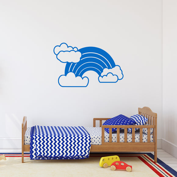 Rainbow with clouds | Wall Decal