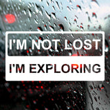 I'm not lost, I'm exploring | Bumper Sticker | Bumper Sticker | Adnil Creations