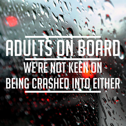 Adults on board - Bumper Sticker - Adnil Creations