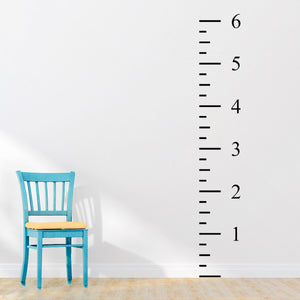 6ft Ruler Height Chart | Wall Decal | Wall Art | Adnil Creations