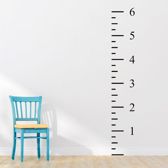 6ft Ruler Height Chart | Wall Decal | Height Chart | Adnil Creations