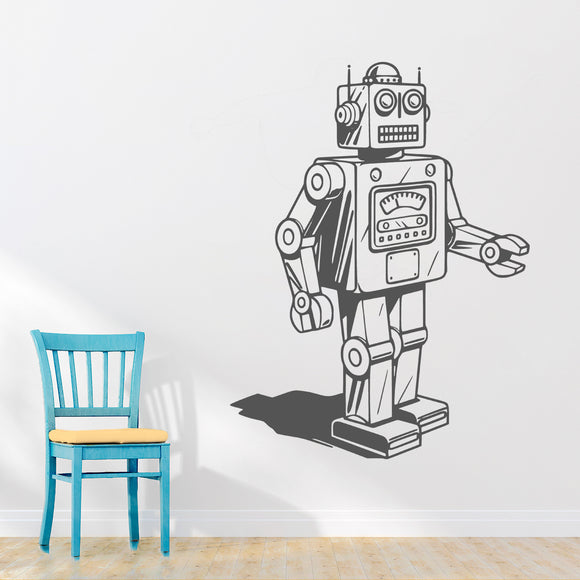 Retro robot | Wall Decal | Wall Art | Adnil Creations