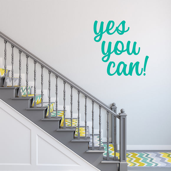 Yes you can | Wall Quote | Wall Quote | Adnil Creations