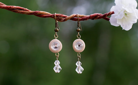 *Sold* Crystal Drop Earrings